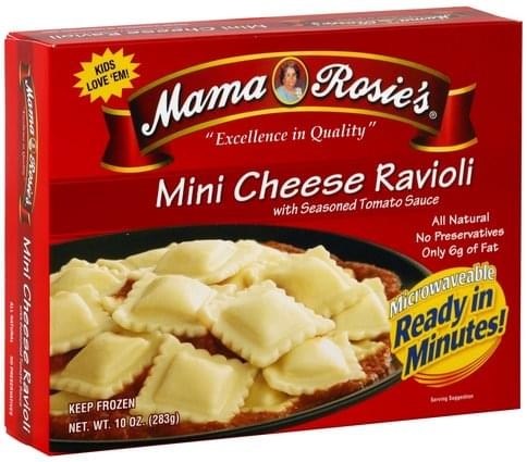 Mama Rosies with Seasoned Tomato Sauce Mini Cheese Ravioli - 10 oz