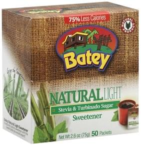 Batey Sweetener Stevia & Turbinado Sugar, Natural, Light