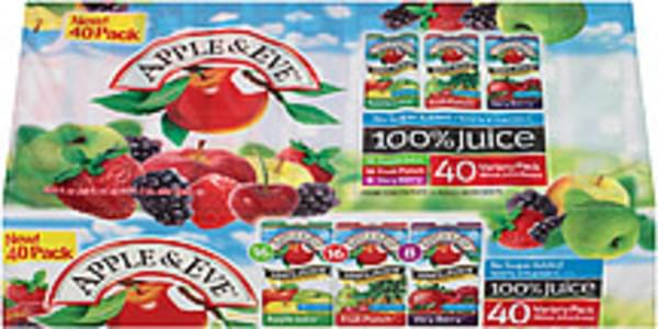 Apple & Eve 100% Juice Juice Box Variety Pack Apple Juice/Very Berry/Fruit Punch
