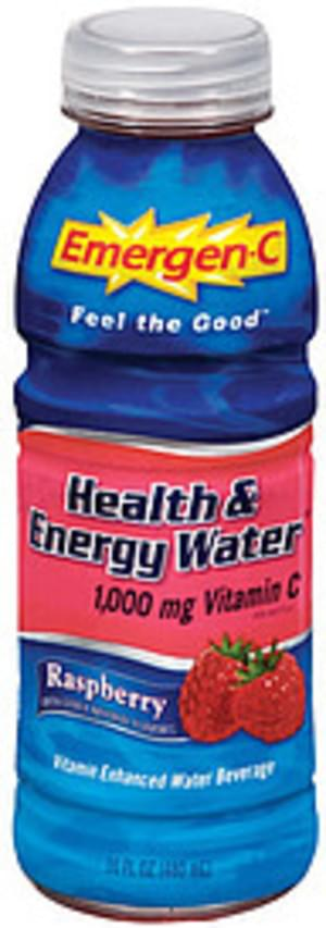 Emergen-C Health & Energy Water Raspberry Flavor Vitamin Enhanced Water Beverage - 16 oz