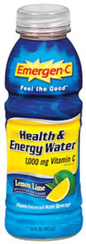Emergen-C Health & Energy Water Lemon Lime Flavor Vitamin Enhanced Water Beverage - 16 oz