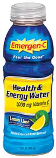 Emergen-C Vitamin Enhanced Water Beverage Health & Energy Water Lemon Lime Flavor