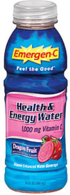 Emergen-C Vitamin Enhanced Water Beverage Health & Energy Water Dragon Fruit Flavor