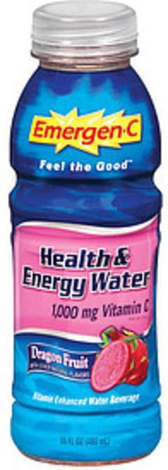 Emergen-C Vitamin Enhanced Water Beverage Health & Energy Water Dragon Fruit Flavor