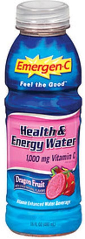 Emergen-C Health & Energy Water Dragon Fruit Flavor Vitamin Enhanced Water Beverage - 16 oz