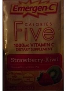 Emergen-C Calories Five Vitamin C Drink Mix Strawberry-Kiwi