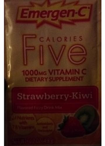 Emergen-C Strawberry-Kiwi Calories Five Vitamin C Drink Mix - 4.8 g