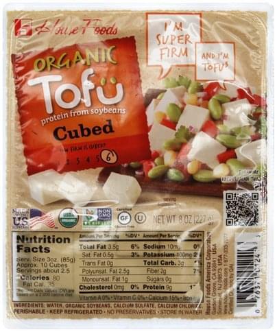 House Foods Organic, Cubed Tofu - 8 oz