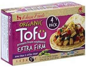 House Foods Tofu Organic, Extra Firm, 4 Pack