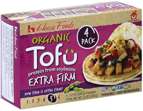 House Foods Organic, Extra Firm, 4 Pack Tofu - 4 ea