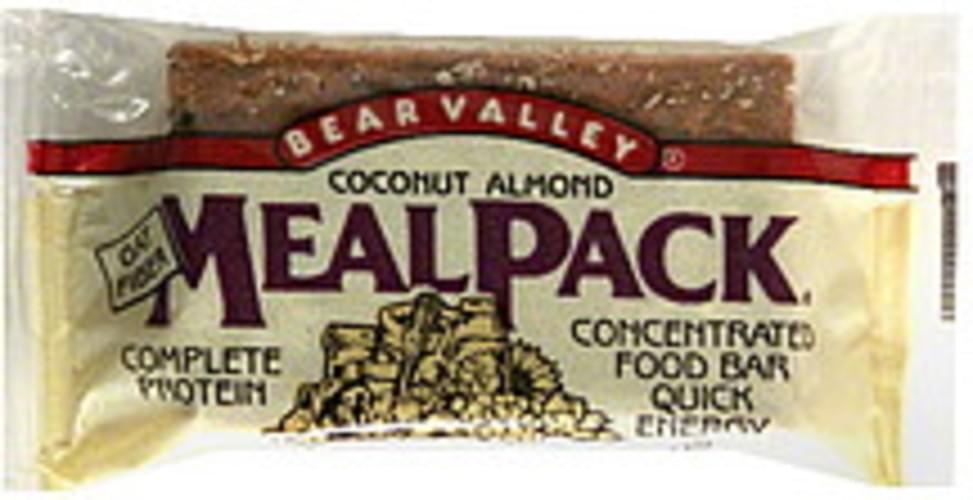 Bear Valley Coconut Almond Meal Pack Food Bar - 3.75 oz