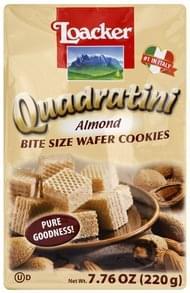 Loacker Cookies Wafer, Almond, Bite Size