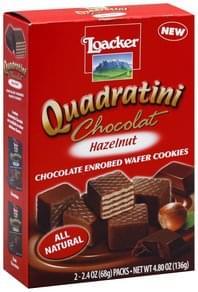 Loacker Wafer Cookies Chocolate Enrobed, Hazelnut