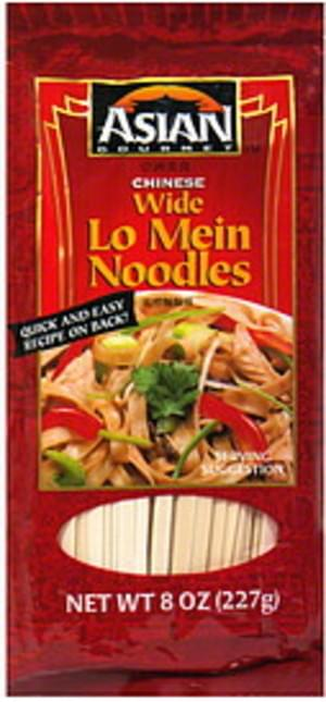 Asian Gourmet Chinese Wide Lo Mein Noodles 8 Oz Nutrition Information Innit