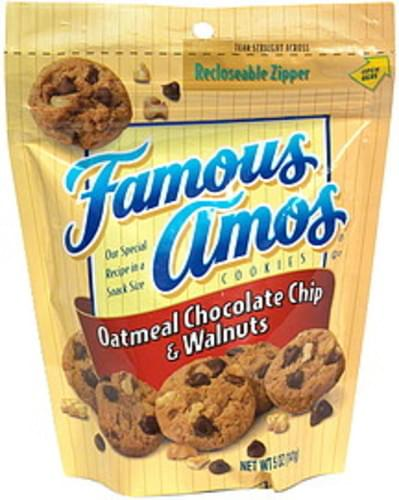 Famous Amos Oatmeal Chocolate Chip Walnut Cookies 5 Oz Nutrition Information Innit