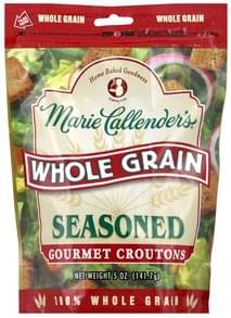 Marie Callenders Croutons Gourmet, Whole Grain, Seasoned