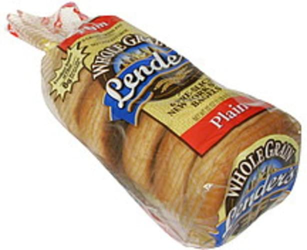 Lenders Plain, Pre-Sliced New York Style Bagels - 6 ea