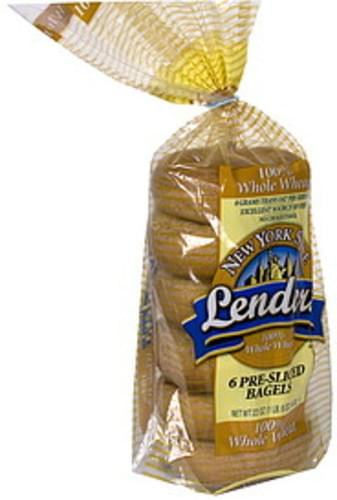 Lenders Pre-Sliced, 100% Whole Wheat Bagels - 6 ea ... |Whole Wheat Bagel Nutrition Facts