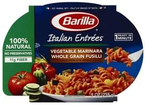 Barilla Pasta Vegetable Marinara Whole Grain Fusilli