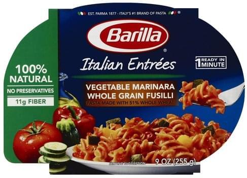 Barilla Vegetable Marinara Whole Grain Fusilli Pasta - 9 oz