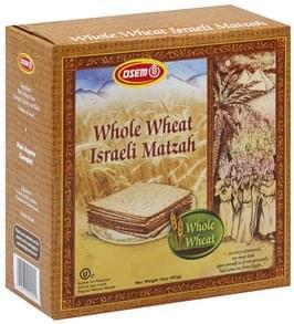Osem Matzah Whole Wheat Israeli