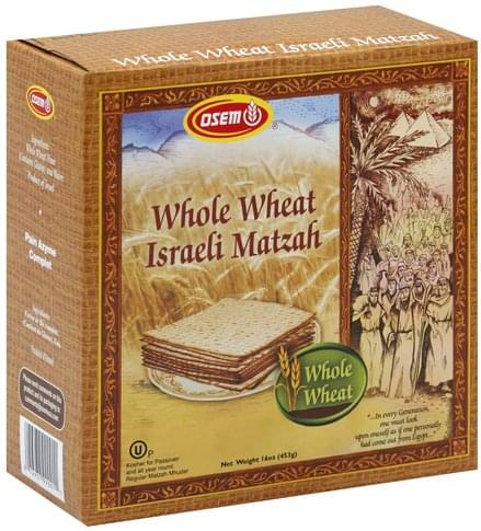 Osem Whole Wheat Israeli Matzah - 16 oz