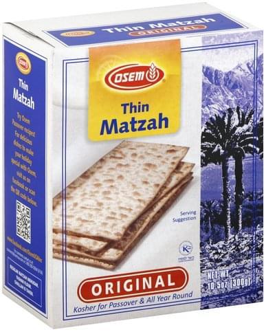 Osem Thin, Original Matzah - 10.5 oz