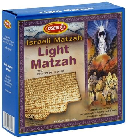 Osem Light Matzah - 10.5 oz