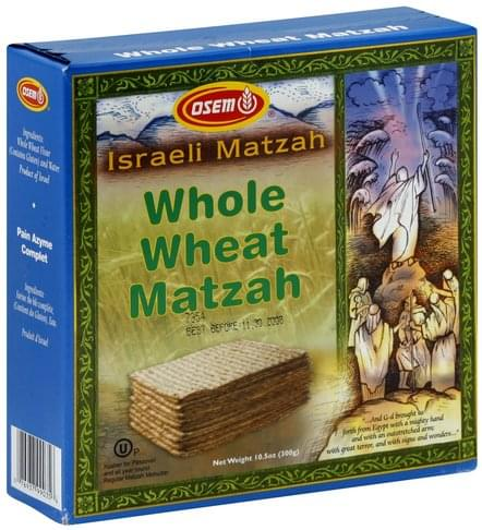 Osem Whole Wheat Matzah - 10.5 oz