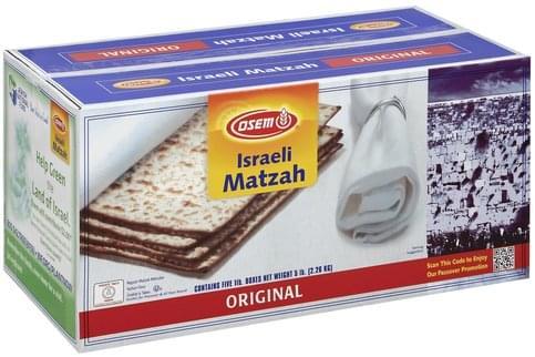 Osem Israeli, Original Matzah - 5 ea