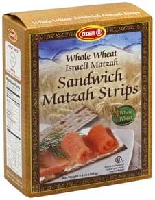 Osem Matzah Strips Sandwich, Whole Wheat