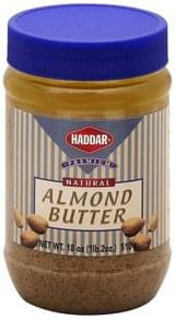Haddar Almond Butter Natural