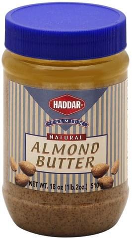 Haddar Natural Almond Butter - 18 oz