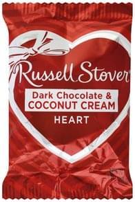 Russell Stover Dark Chocolate & Coconut Cream Heart