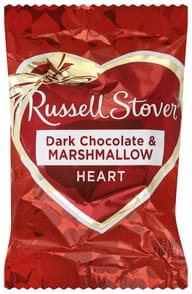 Russell Stover Dark Chocolate &  Marshmallow Heart