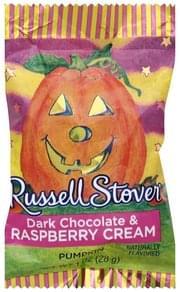 Russell Stover Dark Chocolate & Raspberry Cream Pumpkin