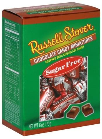 Russell Stover Covered with Chocolate Candy, Sugar Free Chocolate Candy Miniatures - 6 oz