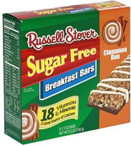 Russell Stover Breakfast Bars Sugar Free, Cinnamon Bun