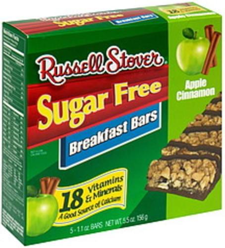 Russell Stover Apple Cinnamon, Sugar Free Breakfast Bars - 5 ea