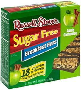 Russell Stover Breakfast Bars Apple Cinnamon, Sugar Free