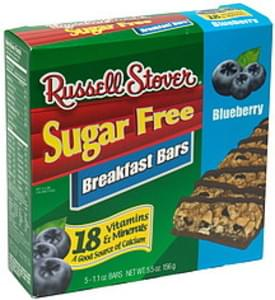 Russell Stover Breakfast Bars Blueberry
