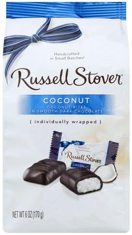 Russell Stover Coconut Dark Chocolate - 6 oz