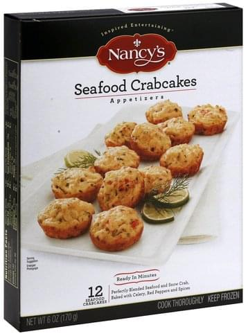 Nancys Seafood Crabcakes Appetizers - 12 ea