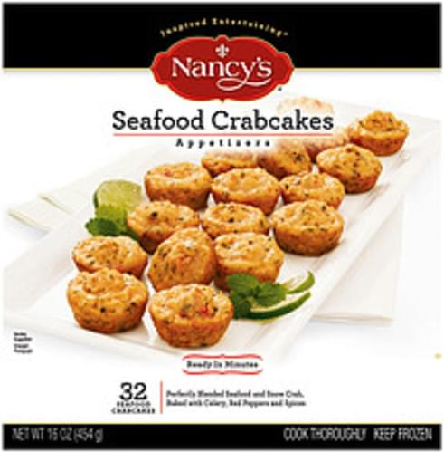 Nancy's Seafood Crabcakes 32 Ct Appetizers - 16 oz