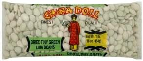 China Doll Lima Beans Tiny Green, Dried