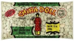 China Doll Lima Beans Green, Tiny, Dried