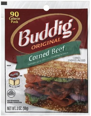 Buddig Original Corned Beef - 2 oz