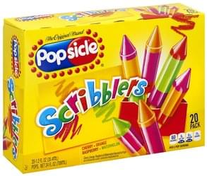 Popsicle Ice Pops Scribblers, 20 Pack