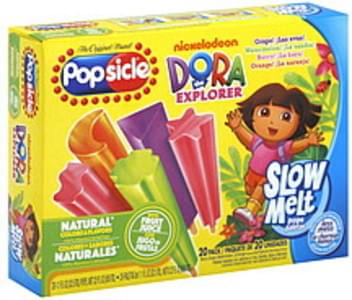 Popsicle Ice Pops Slow Melt, Nickelodeon Dora the Explorer, Assorted Flavors