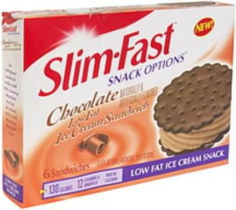 SlimFast Low Fat Ice Cream Sandwich Chocolate